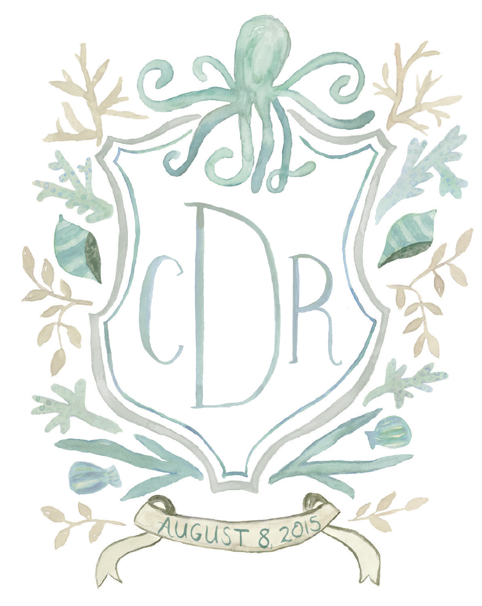 Nautical Wedding Crest