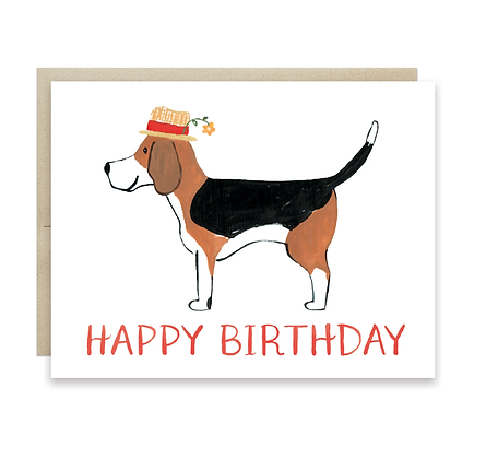 Happy Birthday Beagle Card