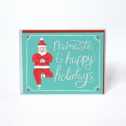 Santa Namaste Holiday Boxed Cards