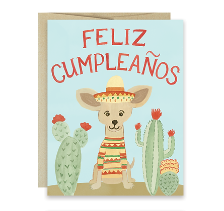 Chihuahua Feliz Cumpleaños Card