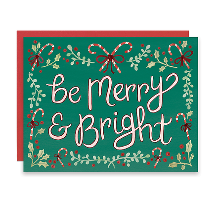 Candy Cane Merry & Bright Card