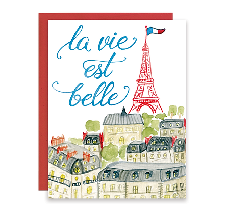 Paris La Vie Est Belle Paris Card