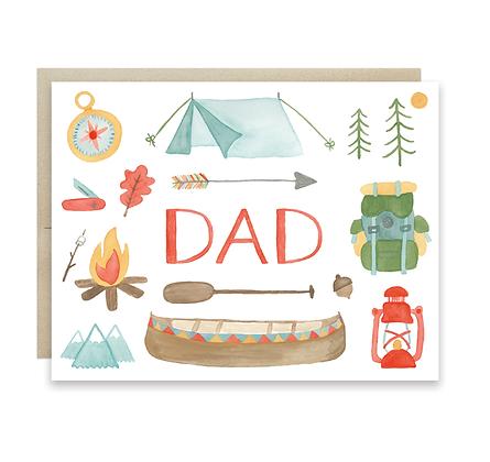 Camping Dad Card