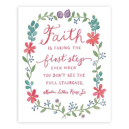 Faith Quote by MLK Jr Art Print