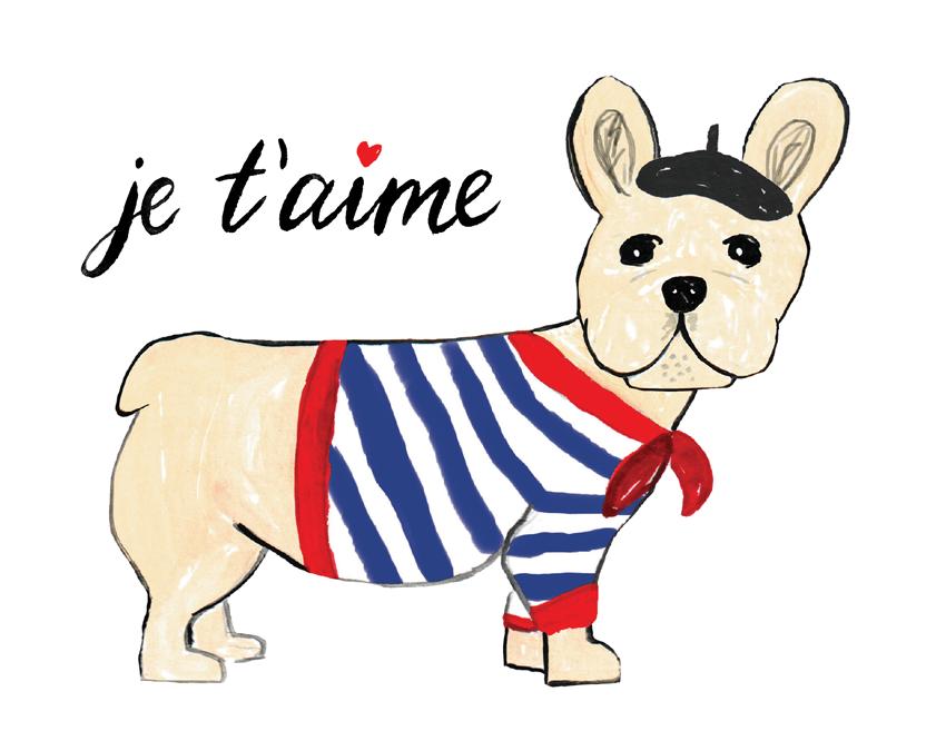 French Bull Dog Love Card