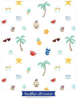 Fun in the Sun Beach Pattern