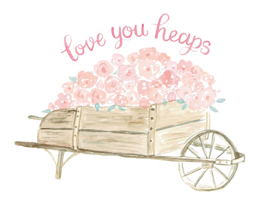 Wheelbarrow Full of Roses