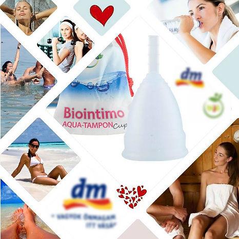 Biointimo Aqua Tampon Cup menstruációs kehely intimkehely