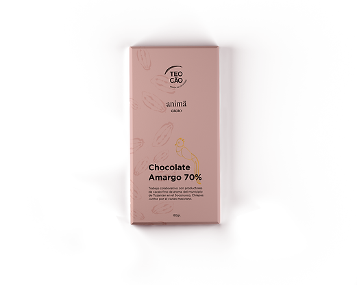 Chocolate Amargo 70% Natural Teocäo