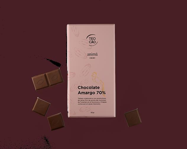 Barra de chocolate amargo Teocäo