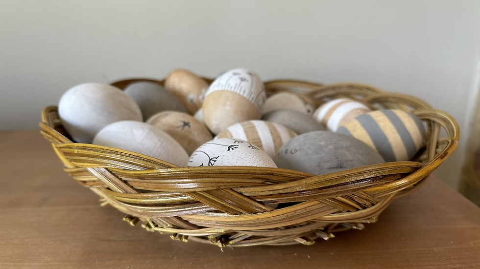Natural Woven Round Basket