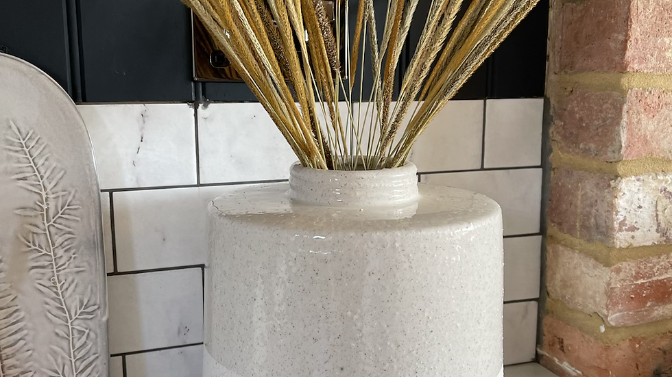 White Dipped Vase