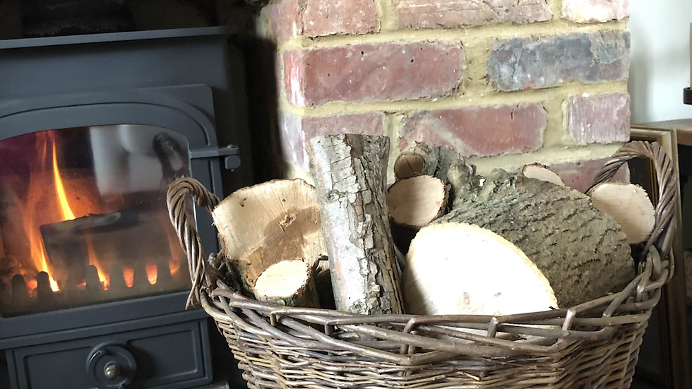 Handmade Wicker Log / Storage Basket