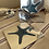 Thumbnail: Silver Metal Starfish Coaster Set