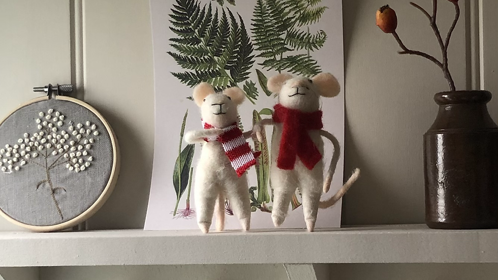 Felted Mice Family