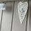 Thumbnail: White Ceramic Hanging Heart