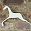 Thumbnail: White Wooden Leaping Horse Shape