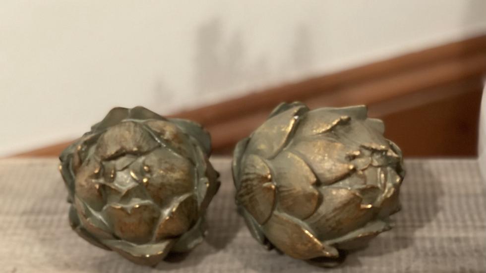 Small Antiqued Bronze Effect Artichoke