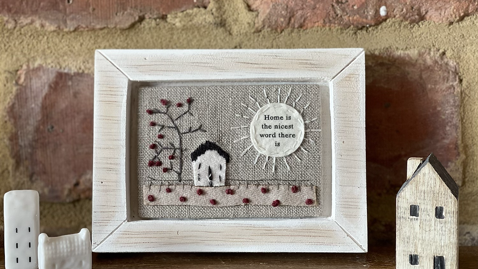 Framed Embroidered Home Art
