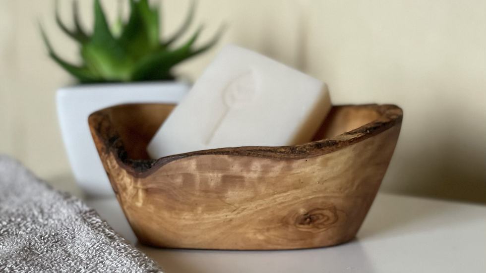 Olive Wood Soap Dish - Small