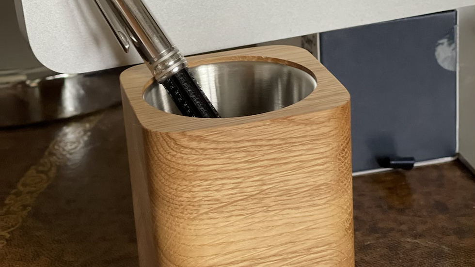 Wooden Pen / Succulent Pot - Oak