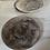 Thumbnail: Ceramic plate with black wash glaze