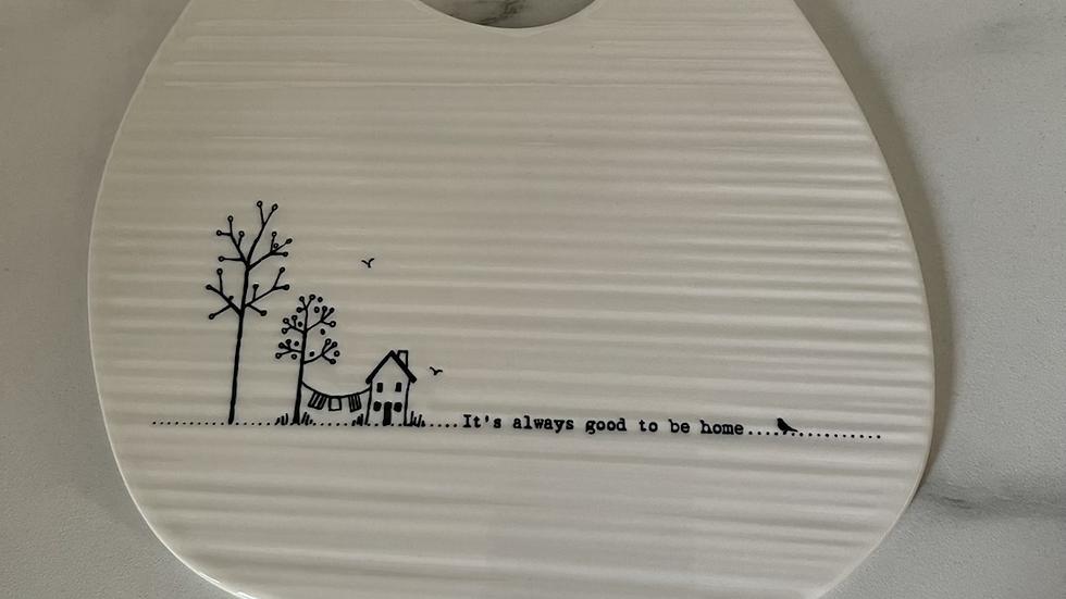 Small White Porcelain Platter Plate - Home