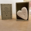 Thumbnail: White Ceramic Heart - Paw Prints