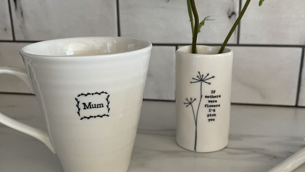White Mum Mug