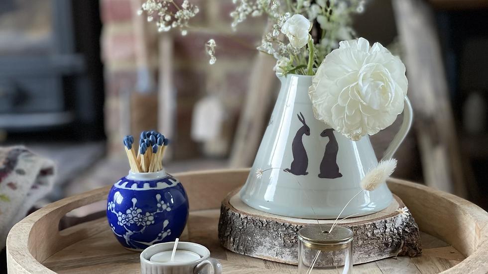 Vintage Ginger Jar Matches Pot