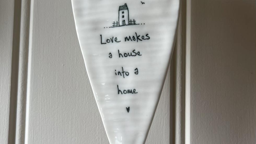 White Ceramic Hanging Heart