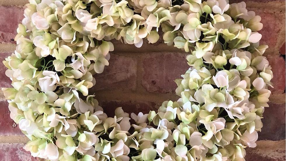 White Hydrangea Everlasting Wreath
