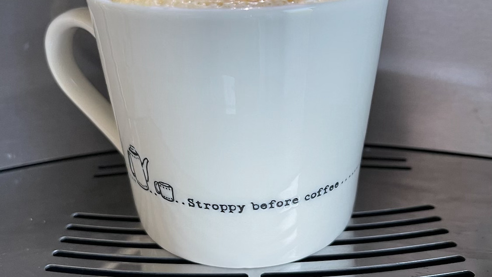 White Stroppy Before Coffee Mug