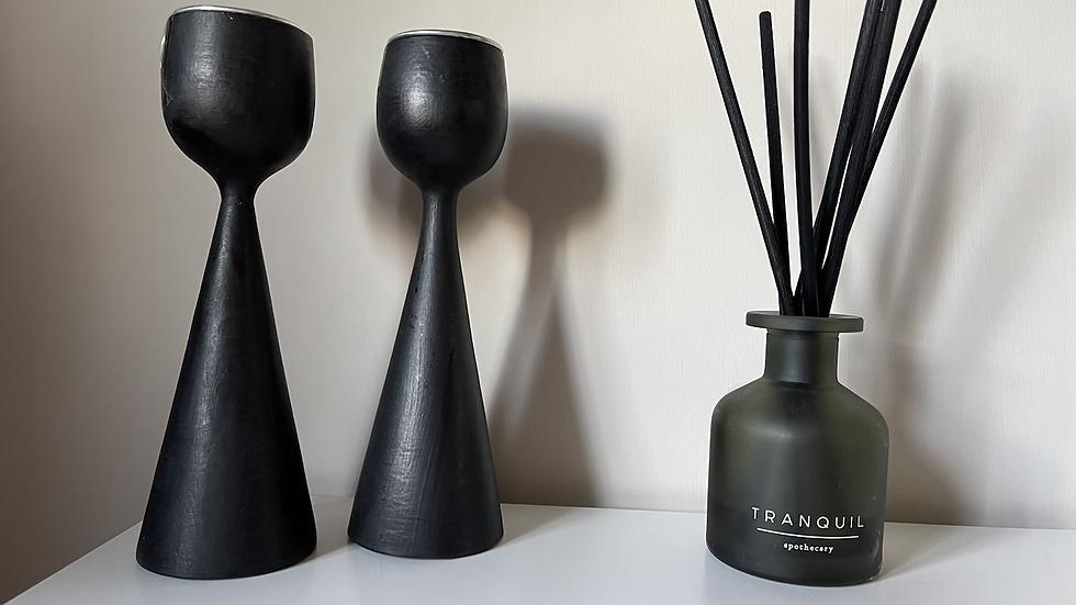 Wood Tea light Stand - small (pair)