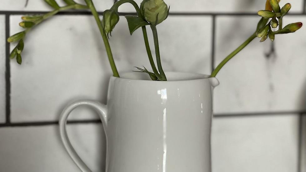 Porcelain Jug - Live Simply, Laugh a Lot