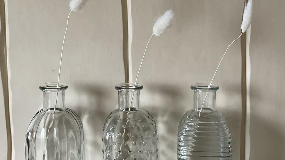 Glass Bud Vases - set of 4