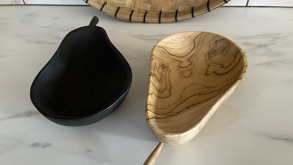 Pear shaped Wooden Bowl