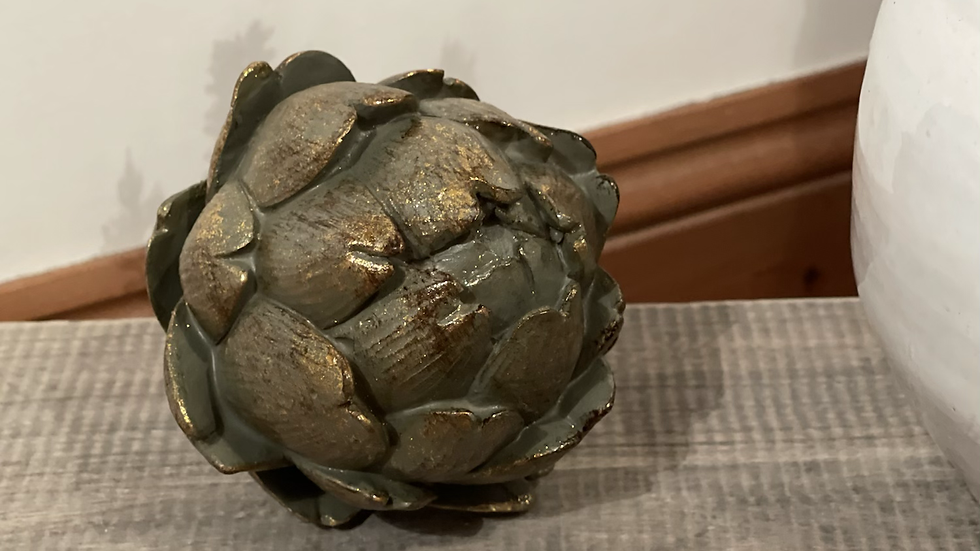 Large Antiqued Bronze Effect Artichoke