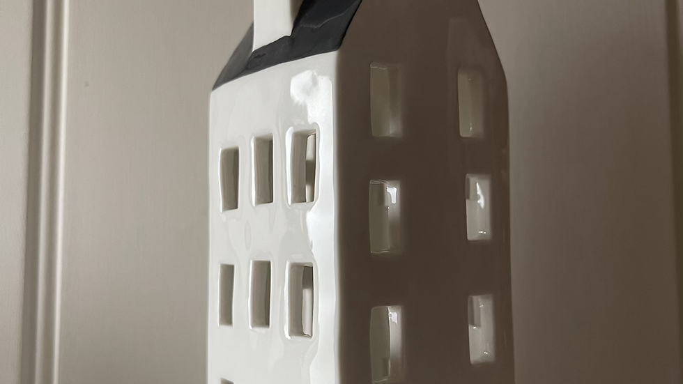 Tall Ceramic Tealight House