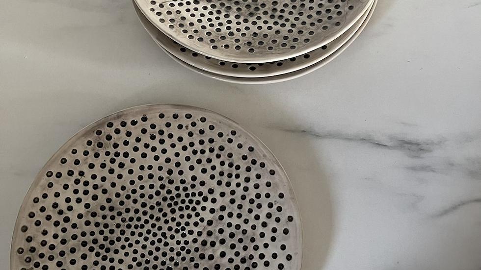 Ceramic glazed Dotty Plate