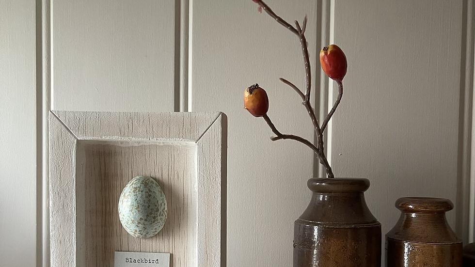 Wooden Birds Egg Portrait