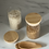 Thumbnail: Glass Storage Jars with Bamboo Lids (pair)