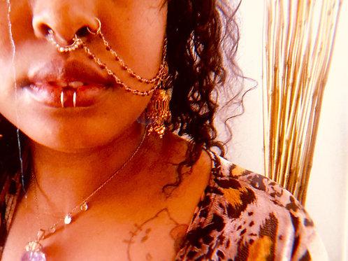 Dainty Purple Gem Septum Jewelry