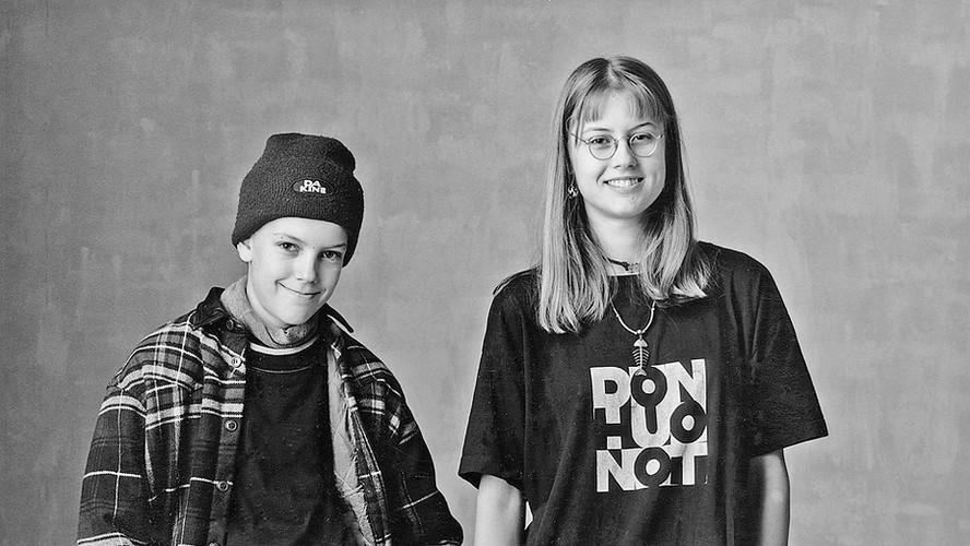 44 Veikka and Suvi Junttila. Helsinki 1996