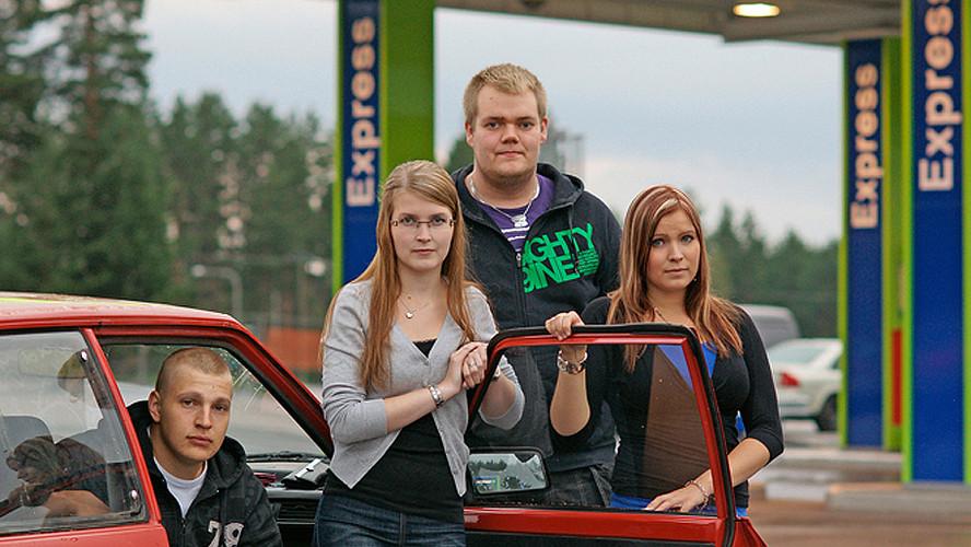20 Tuukka Pöyhölä, Jenna Kangasaho, Oskari Yli-Mononen and Noora Pöyhölä. Virrat 2012