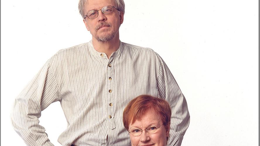 47 Tarja Halonen and husband Pentti Arajärvi. Helsinki 2002