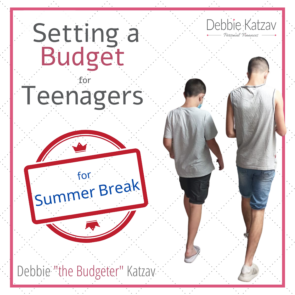 Setting a Budget for Teenagers for the summer break