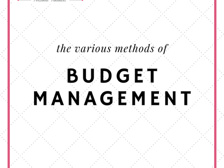 The Various Methods of Budget Management