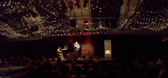 Performing with Ivet Frontela at the CD opening concert in Bern