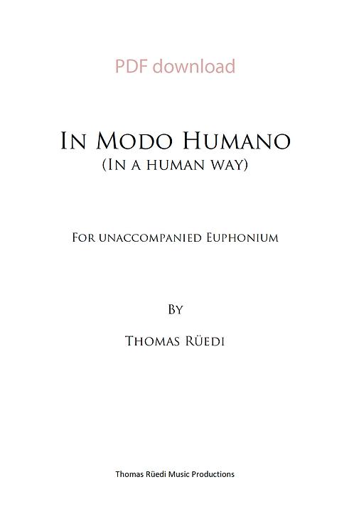 «In Modo Humano»  PDF download